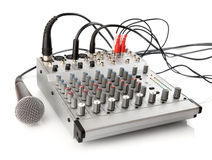 DJ control panel for sound regulation Royalty Free Stock Image