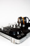 Dj controller and headphones Stock Image