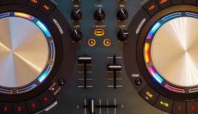 DJ controller. The DJ controller in the included state stock photography