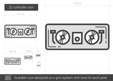 Dj controller line icon. Royalty Free Stock Image