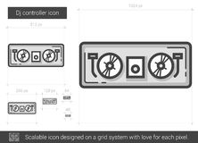 Dj controller line icon. Stock Images