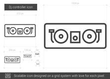 Dj controller line icon. Stock Photography