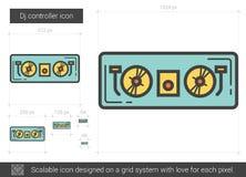 Dj controller line icon. Stock Photos
