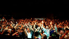 Dj crowd concert stock footage