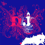 DJ Curves Background. Vector illustration Royalty Free Stock Photography