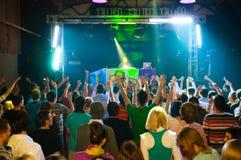 DJ and dance floor Royalty Free Stock Photo