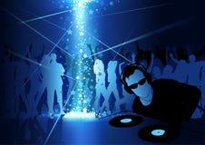 DJ Dance Party Background Stock Photo