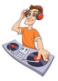 DJ, das Musik spielt Stockfotografie
