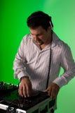 DJ, das Musik spielt Stockfotos