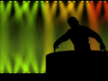 DJ in de illustratie van de nachtclub Royalty-vrije Stock Afbeelding