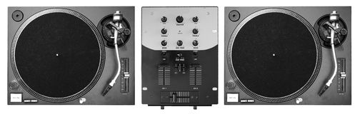 DJ Decks Stock Photography