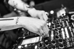 Dj, Deejay, Music, Night, Nightclub Stock Image