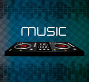 DJ design. DJ design over blue background,  illustration Royalty Free Stock Photos