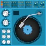 DJ design royalty free illustration