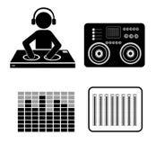 DJ design. Royalty Free Stock Photos