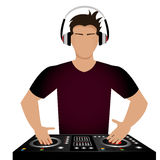 DJ design. Stock Photos