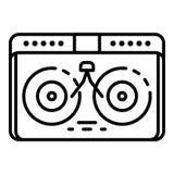 Dj desk hip hop icon, outline style. Dj desk hip hop icon. Outline dj desk hip hop vector icon for web design isolated on white background vector illustration