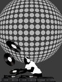 Dj and Disco Ball Stock Images