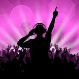 Dj Disco Shows Entertainment Celebration And Dancing Royalty Free Stock Photography