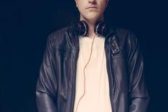 DJ disputa, primer Foto de archivo libre de regalías