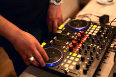 Dj dock station. Dj mix dock station on the party Royalty Free Stock Images
