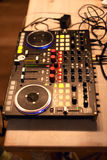 Dj dock station. Dj mix dock station on the party Royalty Free Stock Photos