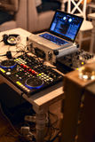 Dj dock station. Dj mix dock station on the party Stock Photo