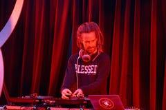 DJ Drez sets up for concert during Wanderlust festival Royalty Free Stock Images