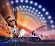 DJ e misturador ilustração do vetor