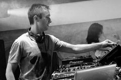 DJ Eddie Halliwell performs at Urban Wave festival on April 16, 2011 in Minsk, Belarus Stock Images