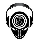 Dj electronic mind Logo Royalty Free Stock Images