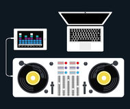 DJ electronic music party Stock Image