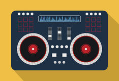 DJ electronic music party. Graphic design, vector illustration eps10 Stock Images