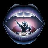 DJ em uma boca Fotografia de Stock