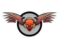 DJ emblem Royaltyfria Bilder
