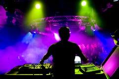 DJ en el concierto Foto de archivo libre de regalías