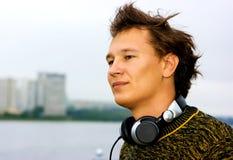 DJ en graffiti Stock Foto