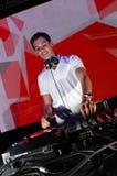 DJ en la acción Fotografía de archivo