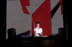 DJ en la acción Foto de archivo libre de regalías