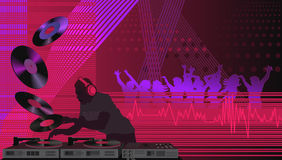 DJ en la casa Fotos de archivo