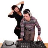DJ en meisje Stock Afbeeldingen
