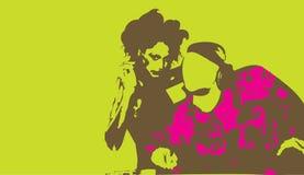 DJ en Meisje Royalty-vrije Stock Afbeelding