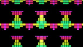 DJ Equalise Levels Graphic Background. This 4K computer generated Audio Music Equalise Volume Levels Graphic could be used for VJs, DJs as backgrounds or royalty free illustration