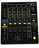DJ equalizer table Stock Photo