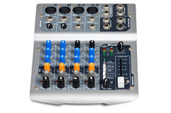 Dj equipment. Audio Mixing Console in isolated Stock Photography