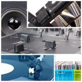 Dj Equipment. Collage. Tools parts Stock Photo