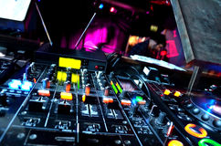DJ Equipment. In a Nightclub Royalty Free Stock Photos