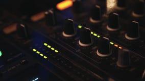 DJ equipment stock video