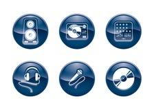 DJ equipment buttons Stock Image