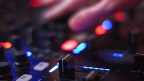 Dj equipment stock video footage